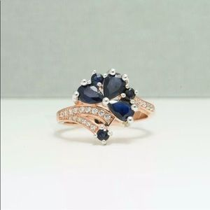Jewelry - BLUE SAPPHIRE AND WHITE SAPPHIRE RING